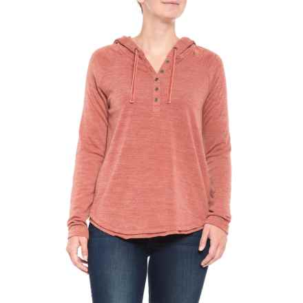 North River Apple Butter Slub Henley Hoodie (For Women) in Apple Butter - Closeouts