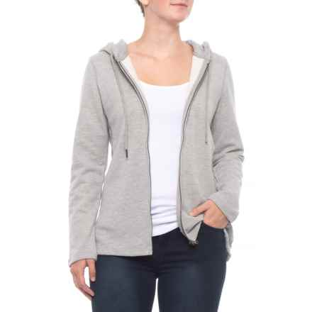 North River Ash Two-Tone French Terry Hoodie (For Women) in Ash - Closeouts