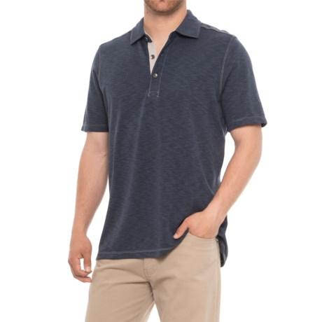North River Cotton-Modal Polo Shirt - Short Sleeve (For Men) in Indigo