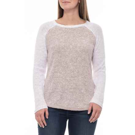 North River Deco Rose Two-Tone Crew Sweater (For Women) in Deco Rose