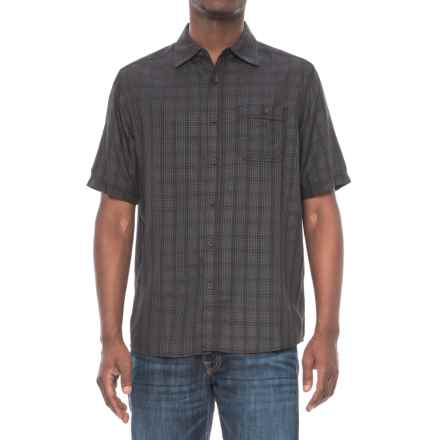 North River Dobby Weave Shirt - Short Sleeve (For Men) in Black - Closeouts