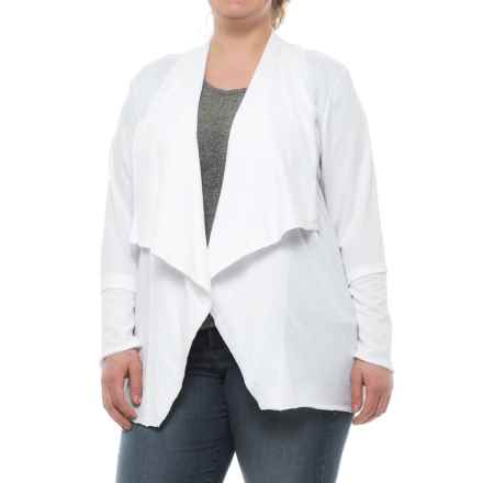 North River French Terry Flyaway Cardigan Shirt - Long Sleeve (For Women) in White - Closeouts