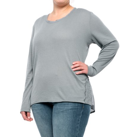 North River Lace Waffle Shirt - Long Sleeve (For Women and Plus Size Women) in Moutain