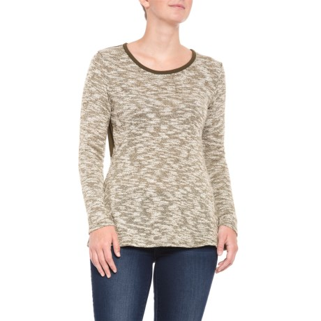 19ef0b675f9c6f North River Major Brown Slub Knit Sweater (For Women) in Major Brown