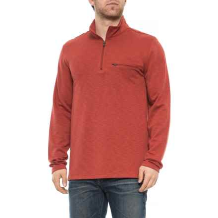 North River Modal Poly Mock Neck Shirt - Zip Neck, Long Sleeve (For Men) in Spice - Closeouts