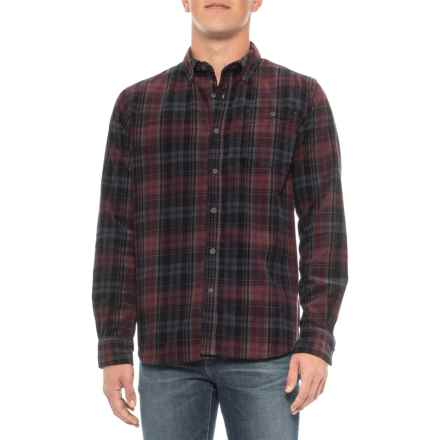 North River Printed Corduroy Shirt - Long Sleeve (For Men) in Hot Chocolate - Closeouts