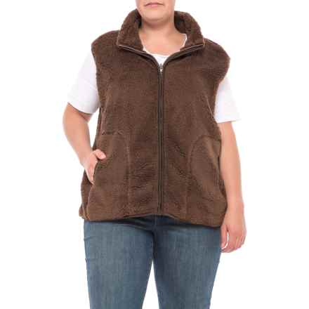North River Reversible Fleece Vest (For Women and Plus Size Women) in Earth - Closeouts