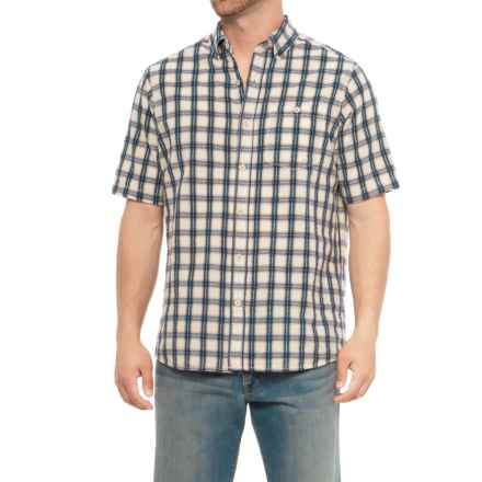 North River Seersucker Shirt - Short Sleeve (For Men) in Beige - Closeouts