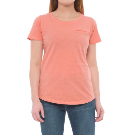 North River Slub-Jersey Shirt - Short Sleeve (For Women) in Peach