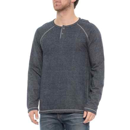 North River Solid French Terry Henley Shirt - Long Sleeve (For Men) in Indig - Closeouts