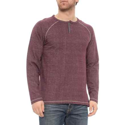 North River Solid French Terry Henley Shirt - Long Sleeve (For Men) in Wine - Closeouts