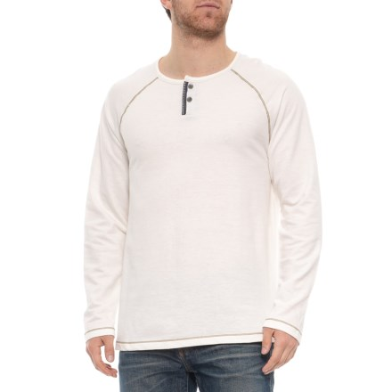 a9062806c51bb North River Solid French Terry Henley Shirt - Long Sleeve (For Men) in  Winter