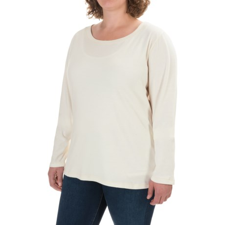 North River Solid Suede Knit Shirt - Long Sleeve (For Women)