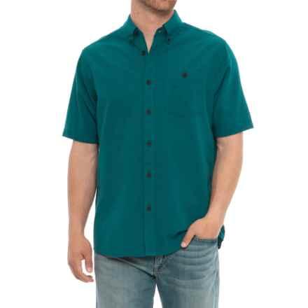 North River Solid Woven Seersucker Shirt - Short Sleeve (For Men) in Green - Overstock