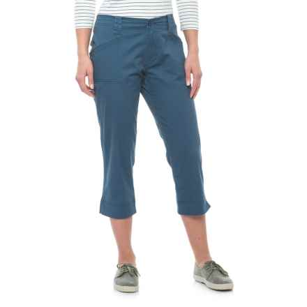 North River Stretch Cotton Twill Capris (For Women) in Astronaut - Overstock