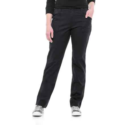 North River Stretch Cotton Twill Pants (For Women) in Black - Overstock