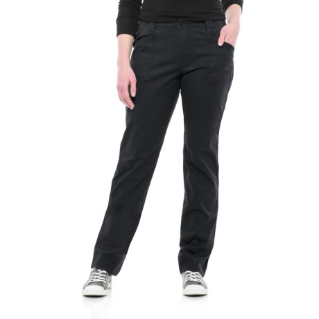 North River Stretch Cotton Twill Pants (For Women) in Black