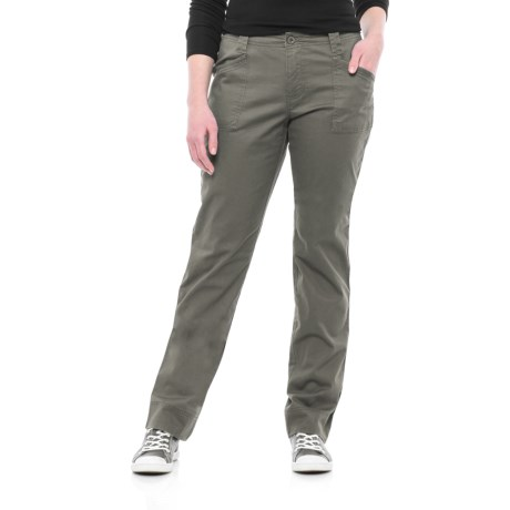 North River Stretch Cotton Twill Pants (For Women) in Granite