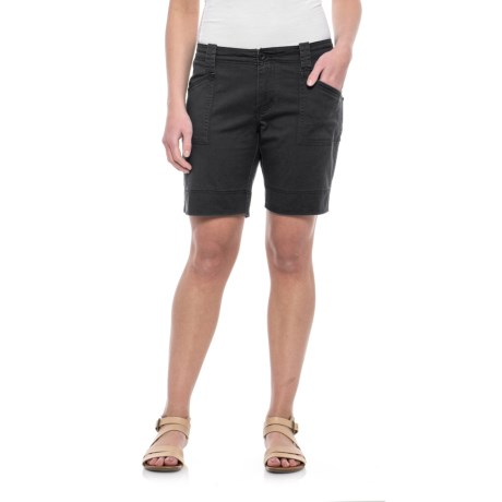 North River Stretch Cotton Twill Shorts (For Women) in Black