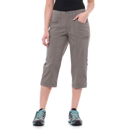 North River Stretch-Woven Outdoor Convertible Capris (For Women) in Grey - Overstock
