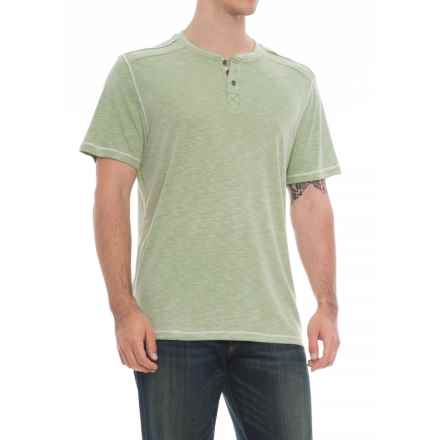 North River Textured Henley Shirt - Short Sleeve (For Men) in Green - Overstock