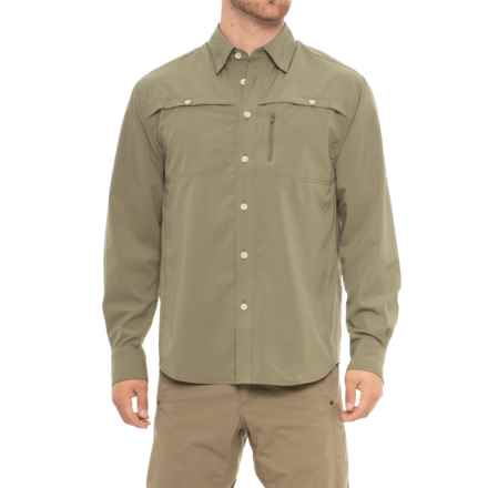North River Textured Utility Shirt - Long Sleeve (For Men) in Sage - Overstock