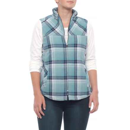 North River Tourmaline Yarn-Dyed Flannel Vest (For Women) in Tourmaline - Closeouts