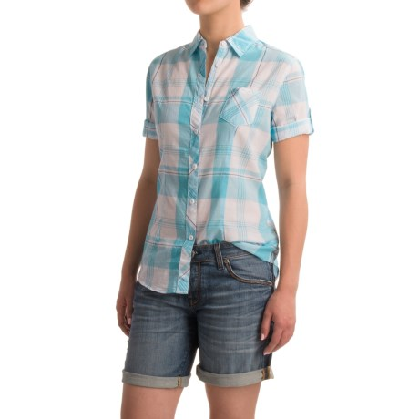 North River Voile Shirt - Roll-Up Elbow Sleeve (For Women) in Delphinium