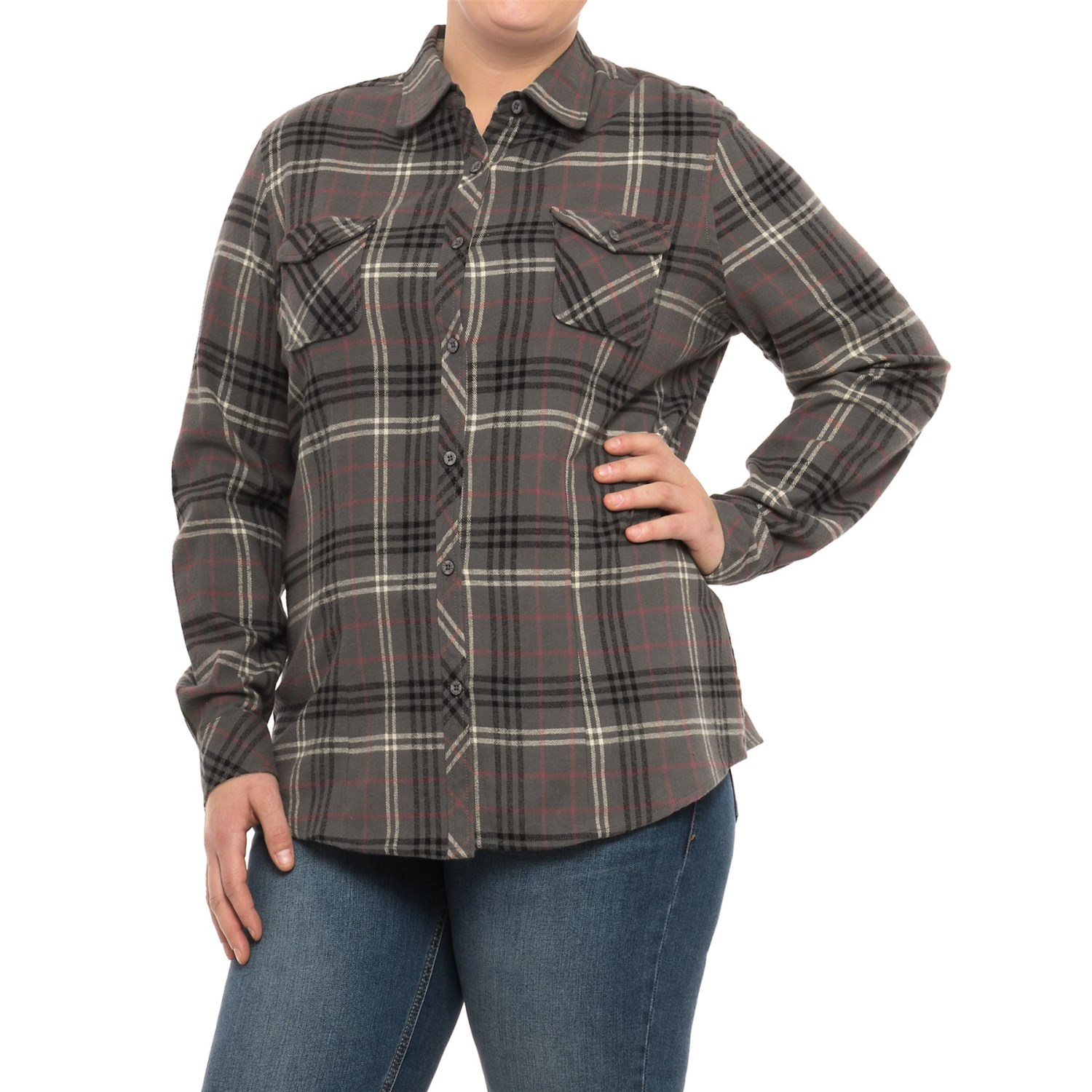 North River Yarn-Dyed Plaid Flannel Shirt (For Women And