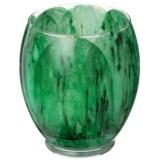Northern Lights Eucalyptus Leaf Tulip Glass Candle - 21 oz.
