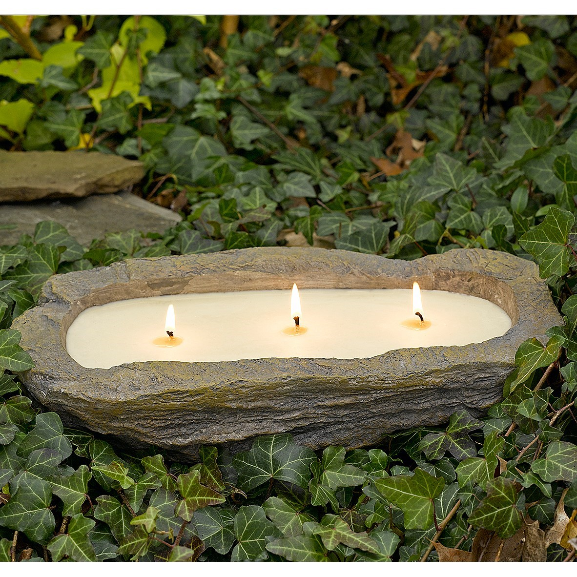 Northern lights home and garden 3 wick rock candle 15 oz for Northern light and garden