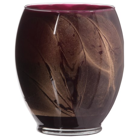 Northern Lights Tulip Glass Merlot Candle - 21 oz. in Frosted Cranberry