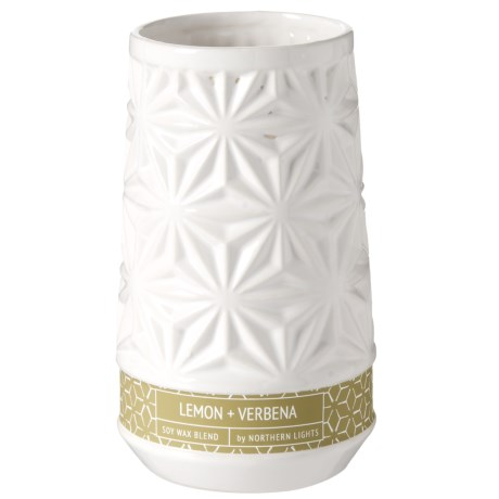 Northern Lights Water Lily & Ivy Candle - 12 oz. in White