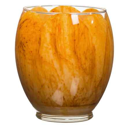 Northern Lights Yellow Tulip Glass Candle - 21 oz. in Yellow - Closeouts