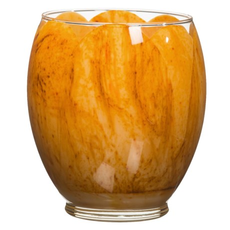 Northern Lights Yellow Tulip Glass Candle - 21 oz. in Yellow