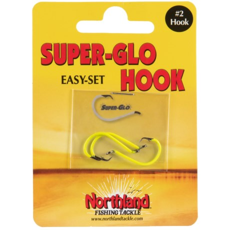 Northland Fishing Tackle Super-Glo East-Set Hook - 3-Pack in Super-Glo Chartreuse
