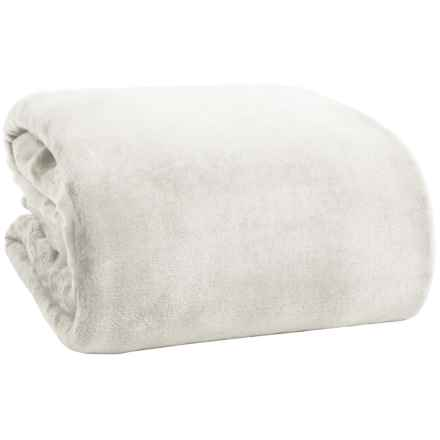 Northpoint Home Solid Velvet Blanket - King in Gray - Overstock