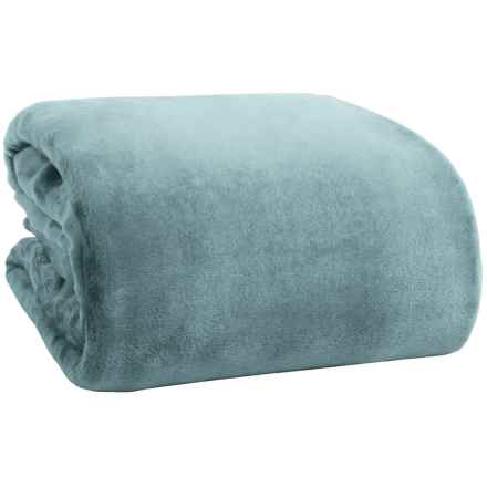 Northpoint Home Solid Velvet Blanket - Twin in Silver Blue - Overstock
