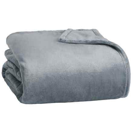 Northpoint Home Thesis Solid Velvet Blanket - Twin in Slate - Closeouts