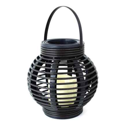 Northpoint Rattan Basket LED Candle Light in Black - Overstock