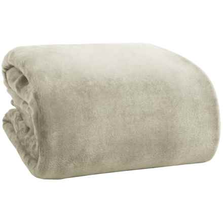Northpoint Solid Velvet Blanket - Twin in Taupe - Overstock