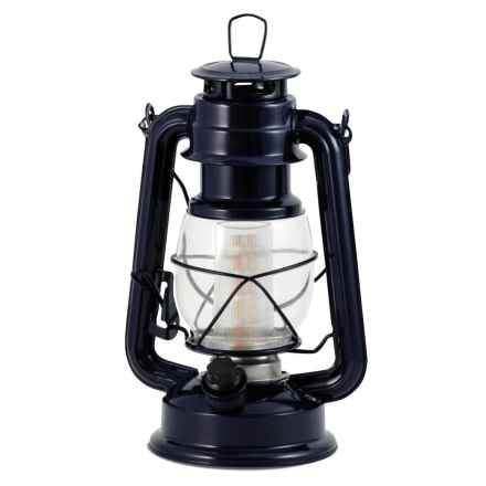 Northpoint Vintage LED Lantern in Blue - Overstock