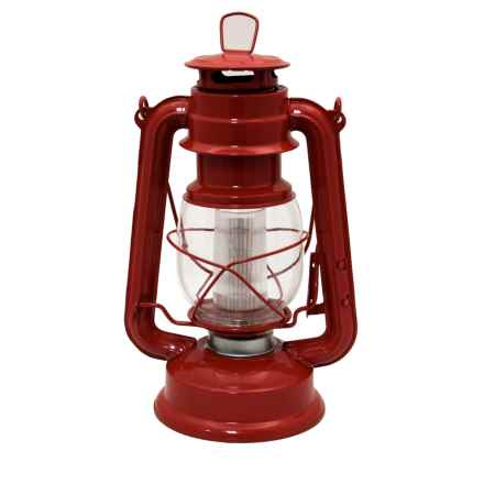 Northpoint Vintage LED Lantern in Red - Overstock
