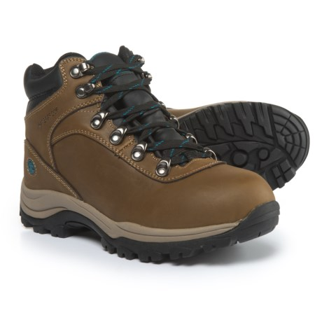 Northside Apex Lite Leather Hiking Boots - Waterproof (For Women) in Medium Brown/Teal
