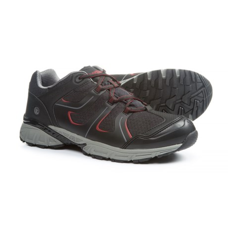 Northside Ascent Hiking Shoes - Waterproof (For Men) in Black/Red