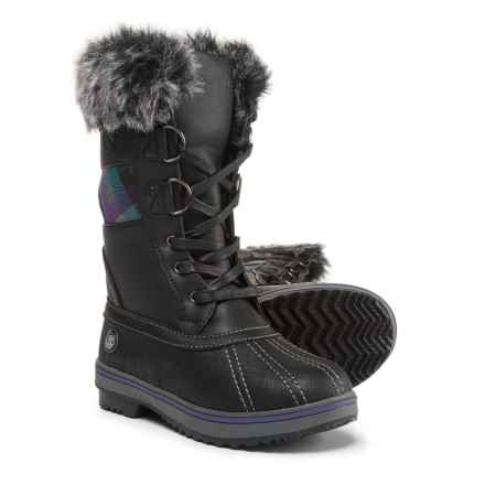Northside Bishop Jr. Snow Boots - Vegan Leather (For Girls) in Black/Purple - Closeouts