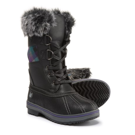 Northside Bishop Jr. Snow Boots - Vegan Leather (For Girls) in Black/Purple
