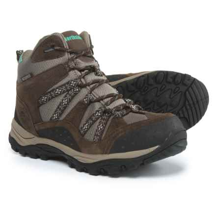 Northside Freemont Hiking Boots - Waterproof (For Women) in Dark Brown/Sage - Closeouts
