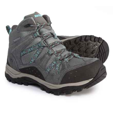 Northside Freemont Hiking Boots - Waterproof (For Women) in Grey/Aqua - Closeouts