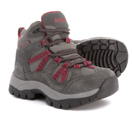 Northside Freemont Hiking Boots - Waterproof, Suede (For Boys) in Dark Grey/Red